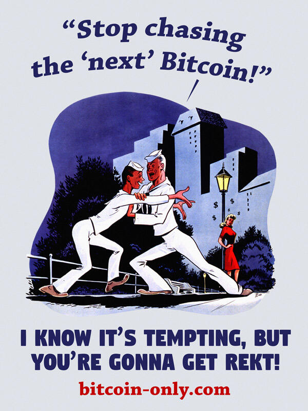 Bitcoin Only Poster